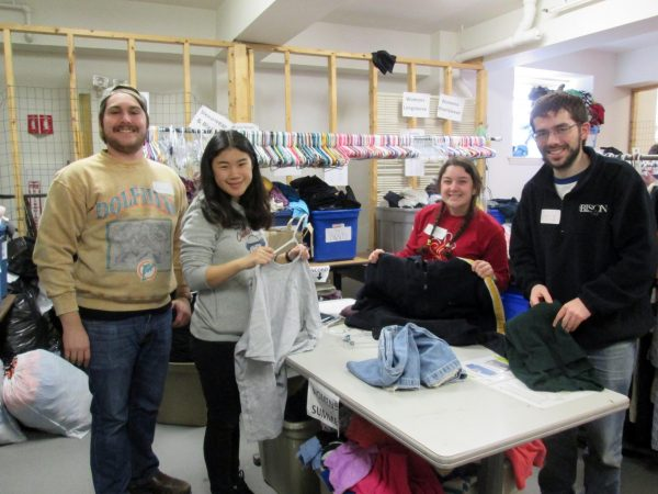 Volunteers at the Families in Transition thrift store