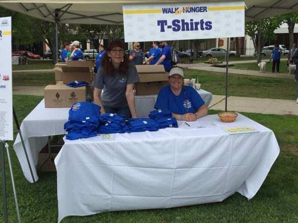 Volunteer at an event at Families in Transition